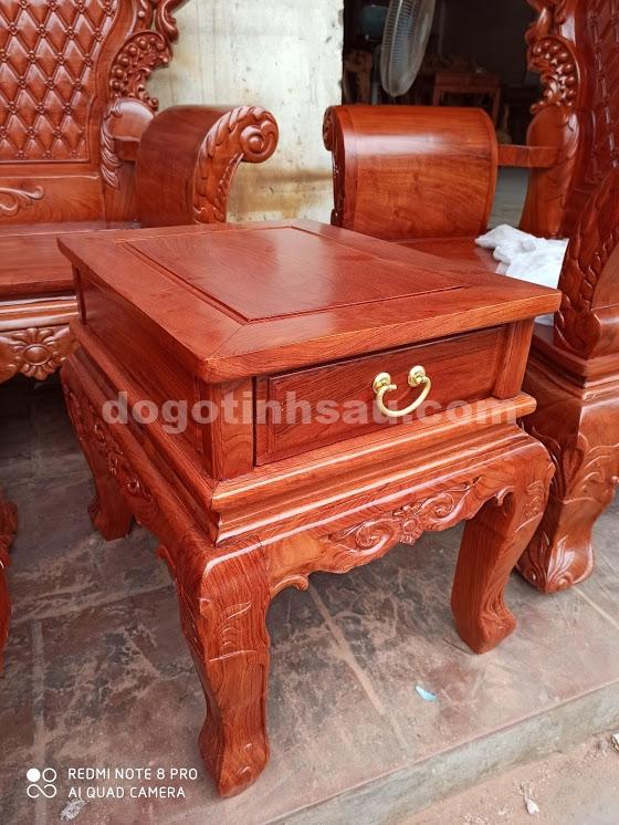 IMG 4426 - Bộ bàn ghế Hoàng Gia gỗ hương đá