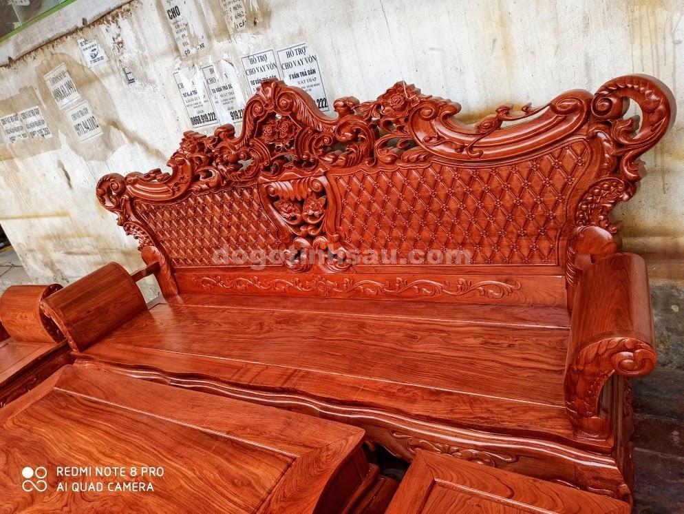 IMG 4430 - Bộ bàn ghế Hoàng Gia gỗ hương đá