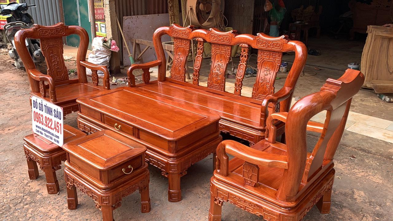 bo ban ghe minh quoc trien tay 10 go huong da 3 - Bộ bàn ghế Minh Quốc triện tay 10 gỗ hương đá