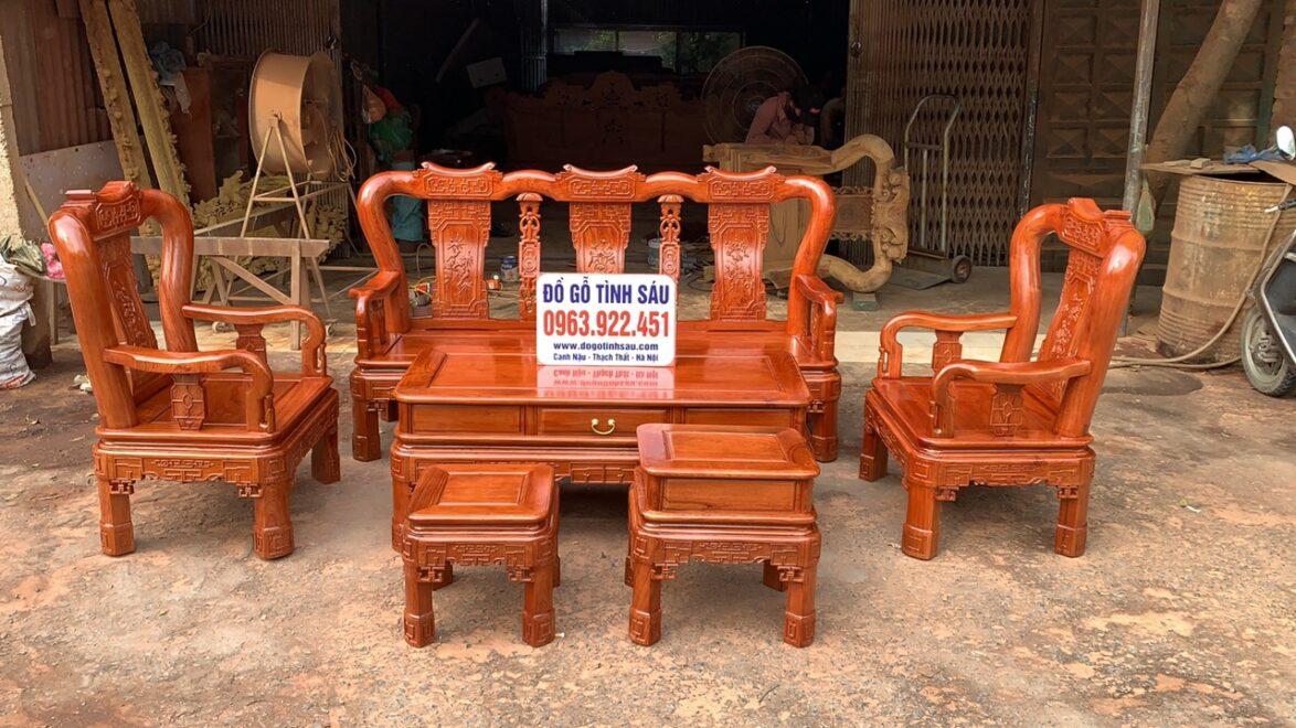 bo ban ghe minh quoc trien tay 10 go huong da 4 1174x660 - Bộ bàn ghế Minh Quốc triện tay 10 gỗ hương đá