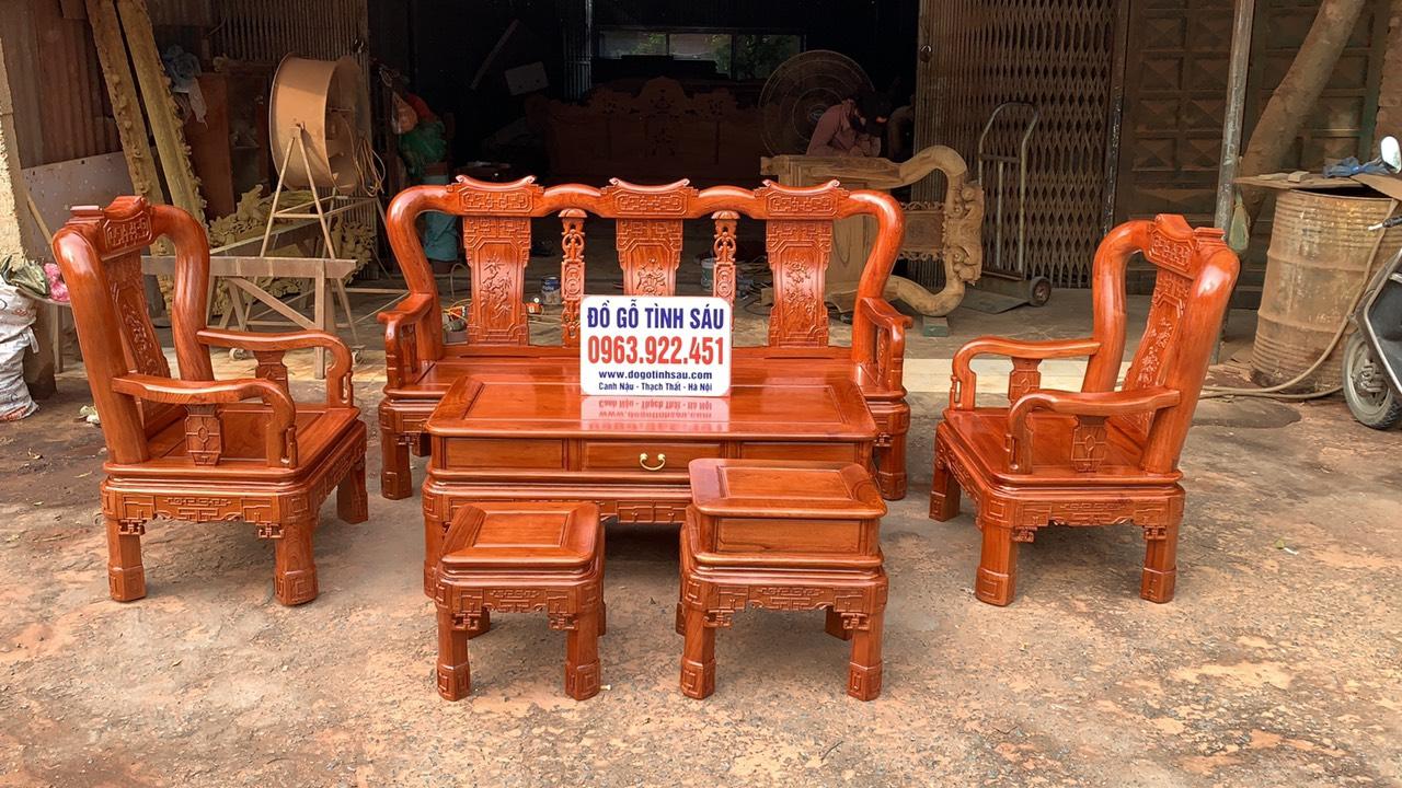 bo ban ghe minh quoc trien tay 10 go huong da 4 - Bộ bàn ghế Minh Quốc triện tay 10 gỗ hương đá
