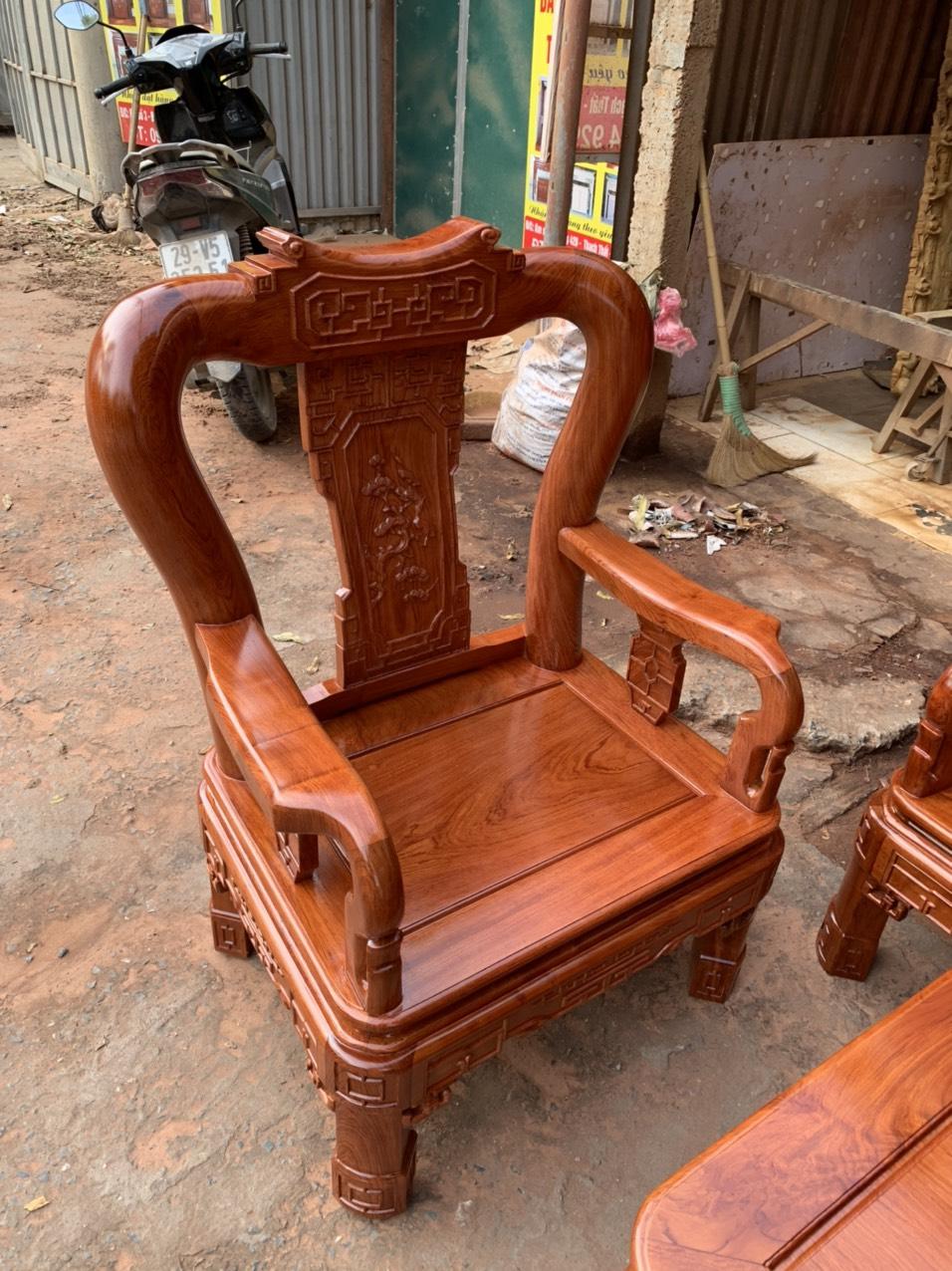 bo ban ghe minh quoc trien tay 10 go huong da - Bộ bàn ghế Minh Quốc triện tay 10 gỗ hương đá