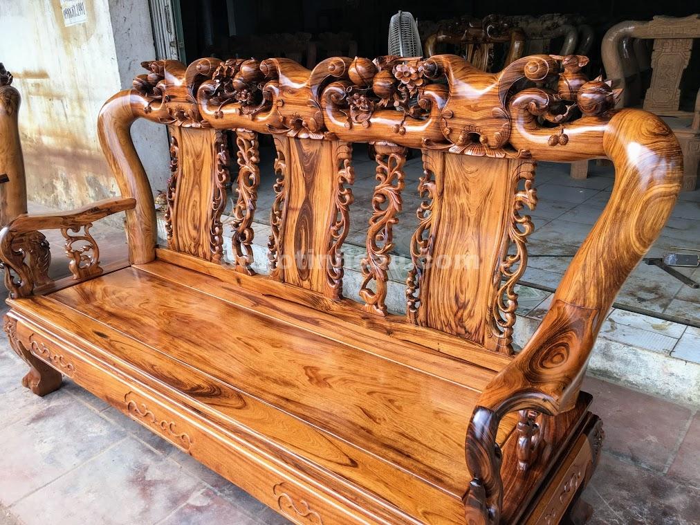 IMG 4701 - Bộ bàn ghế gỗ gụ ta Quảng Bình 6 món tay 12 vân VIP