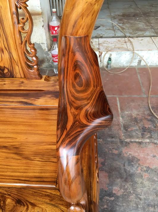 IMG 4714 - Bộ bàn ghế gỗ gụ ta Quảng Bình 6 món tay 12 vân VIP
