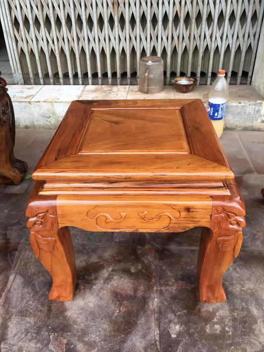 IMG 4738 - Bộ bàn ghế gỗ gụ ta Quảng Bình 6 món tay 12 vân VIP