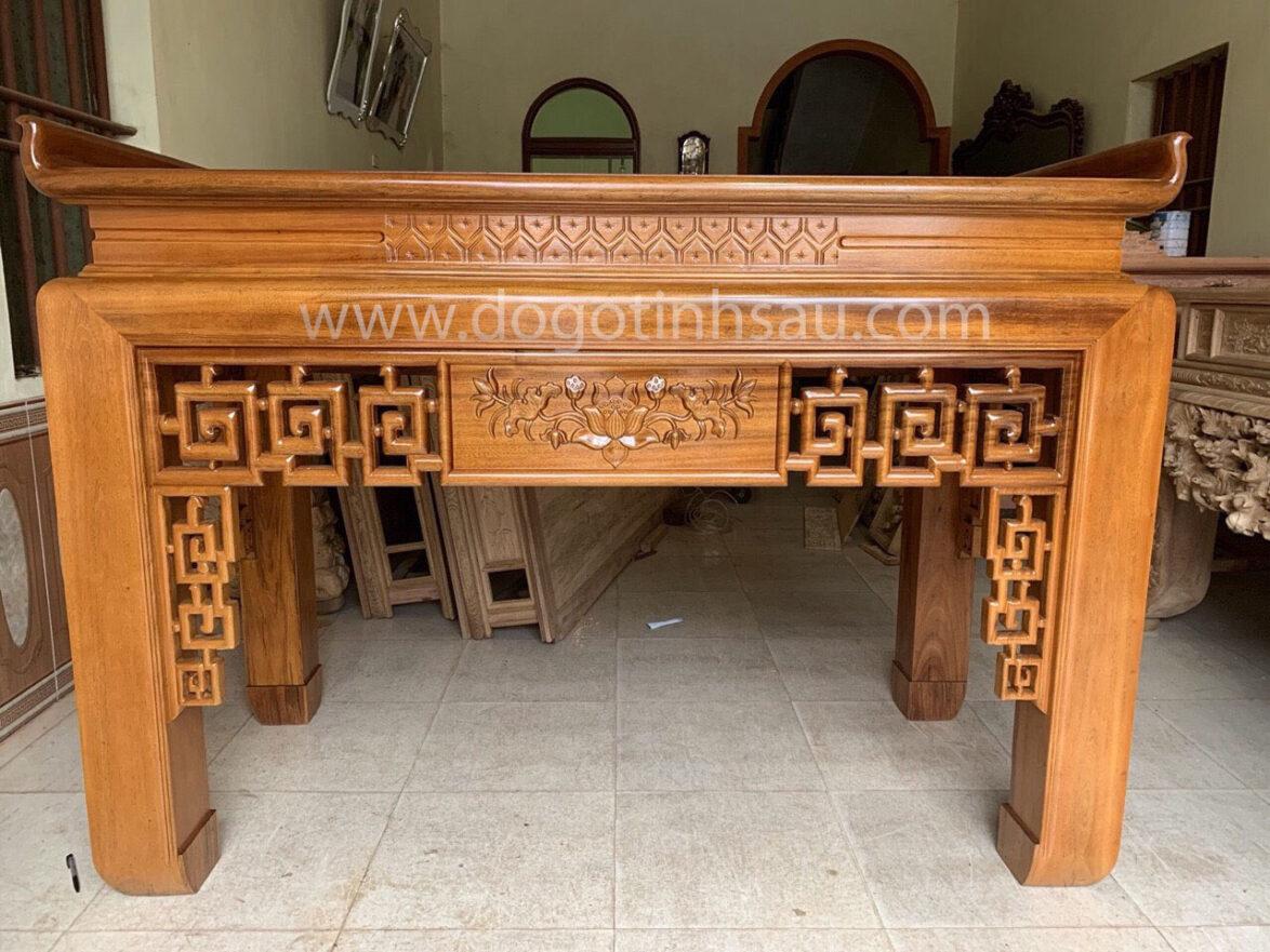 an gian tho go gu chan 16 1174x881 - Án gian thờ gỗ gụ Lào chân 16 (hàng đặt)