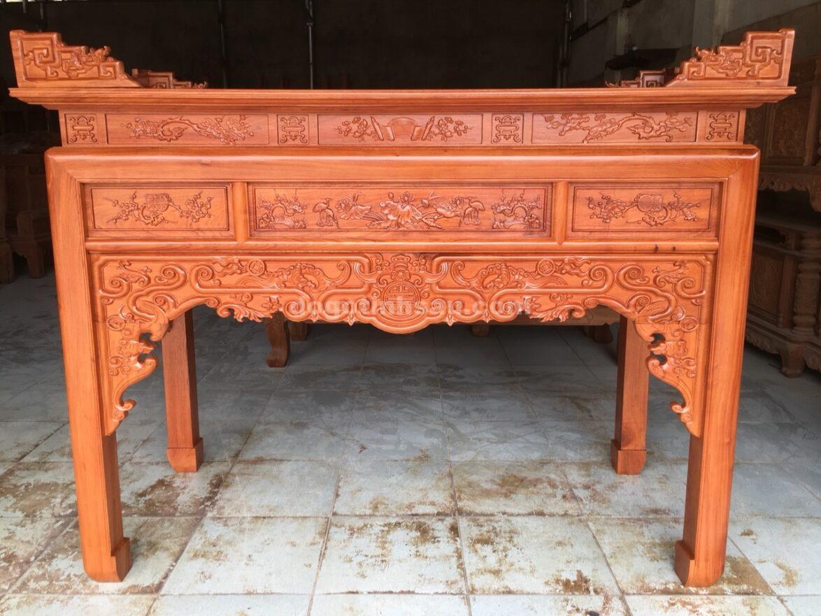an gian tho go huong da chan 10 mau trien nhu y 1174x881 - Án gian thờ gỗ hương đá chân 10 mẫu triện như ý