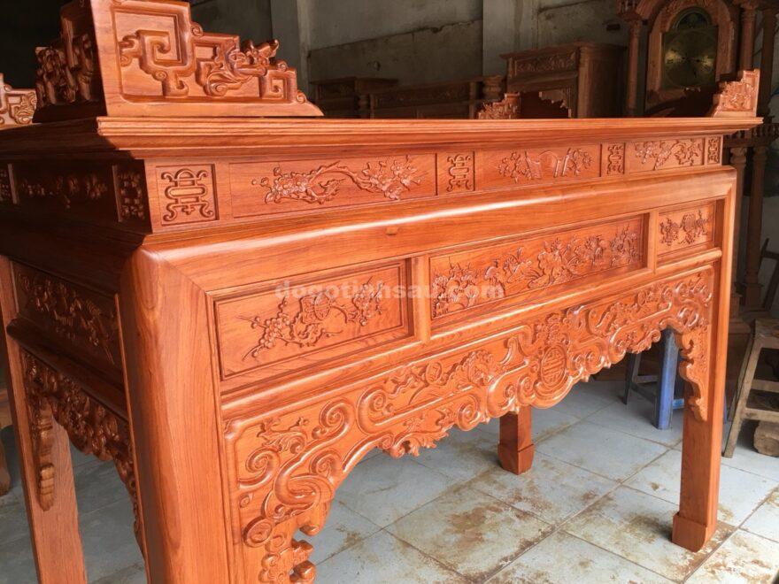 an gian tho go huong da chan 10 mau trien nhu y 5 880x660 - Án gian thờ gỗ hương đá chân 10 mẫu triện như ý