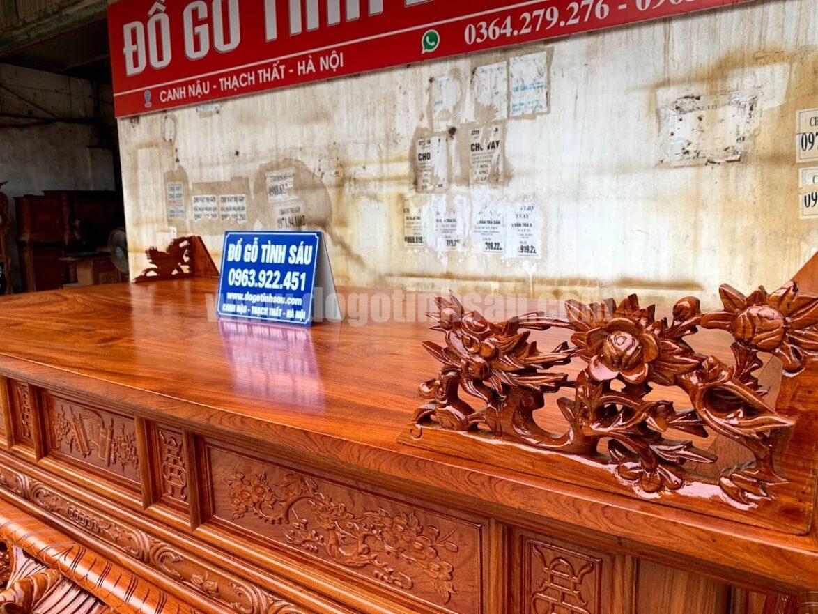 sap tho mai dieu go huong da 1174x881 - Sập thờ Mai Điểu gỗ hương đá chân 24 (hàng đặt dày dặn)