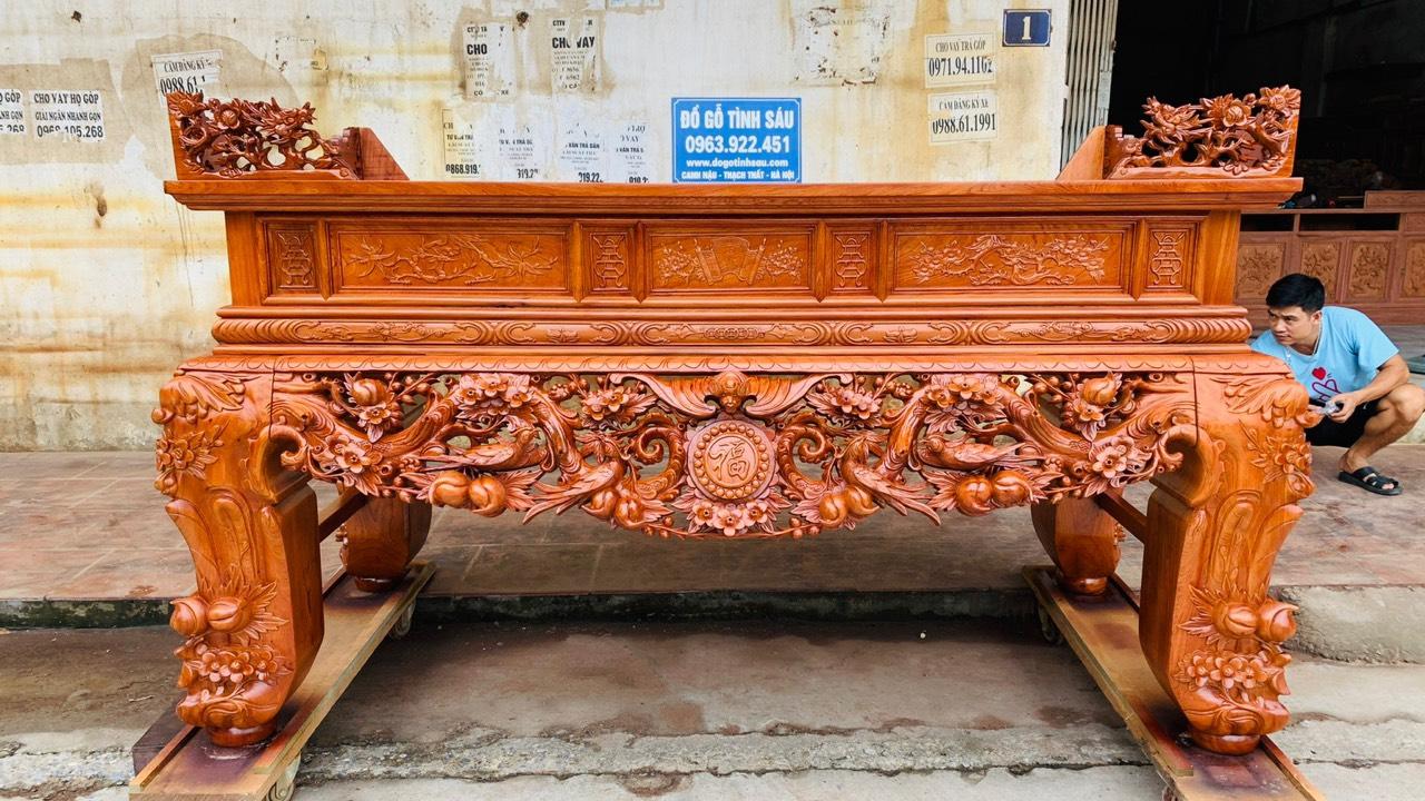 sap tho mai dieu go huong da chan 24 hang dat day dan - Sập thờ Mai Điểu gỗ hương đá chân 24 (hàng đặt dày dặn)