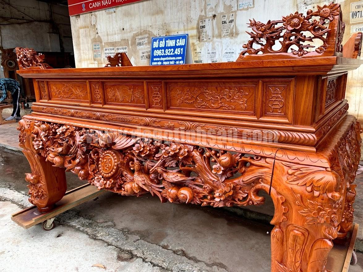 sap tho mai dieu go huong da chan 24 - Sập thờ Mai Điểu gỗ hương đá chân 24 (hàng đặt dày dặn)