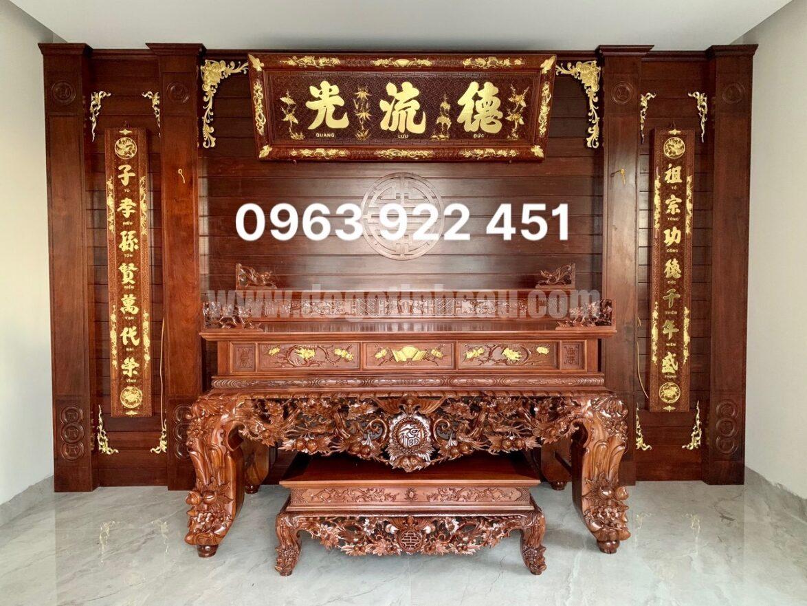 sap tho chan 24 go gu 1174x881 - Bộ hoành phi câu đối gỗ gụ 1m97 dày 5cm đục tay 100%