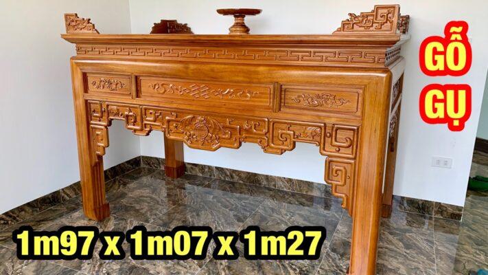 ban tho go gu 711x400 - Bàn thờ gỗ gụ đẹp chuẩn giá tốt tại Hà Nội