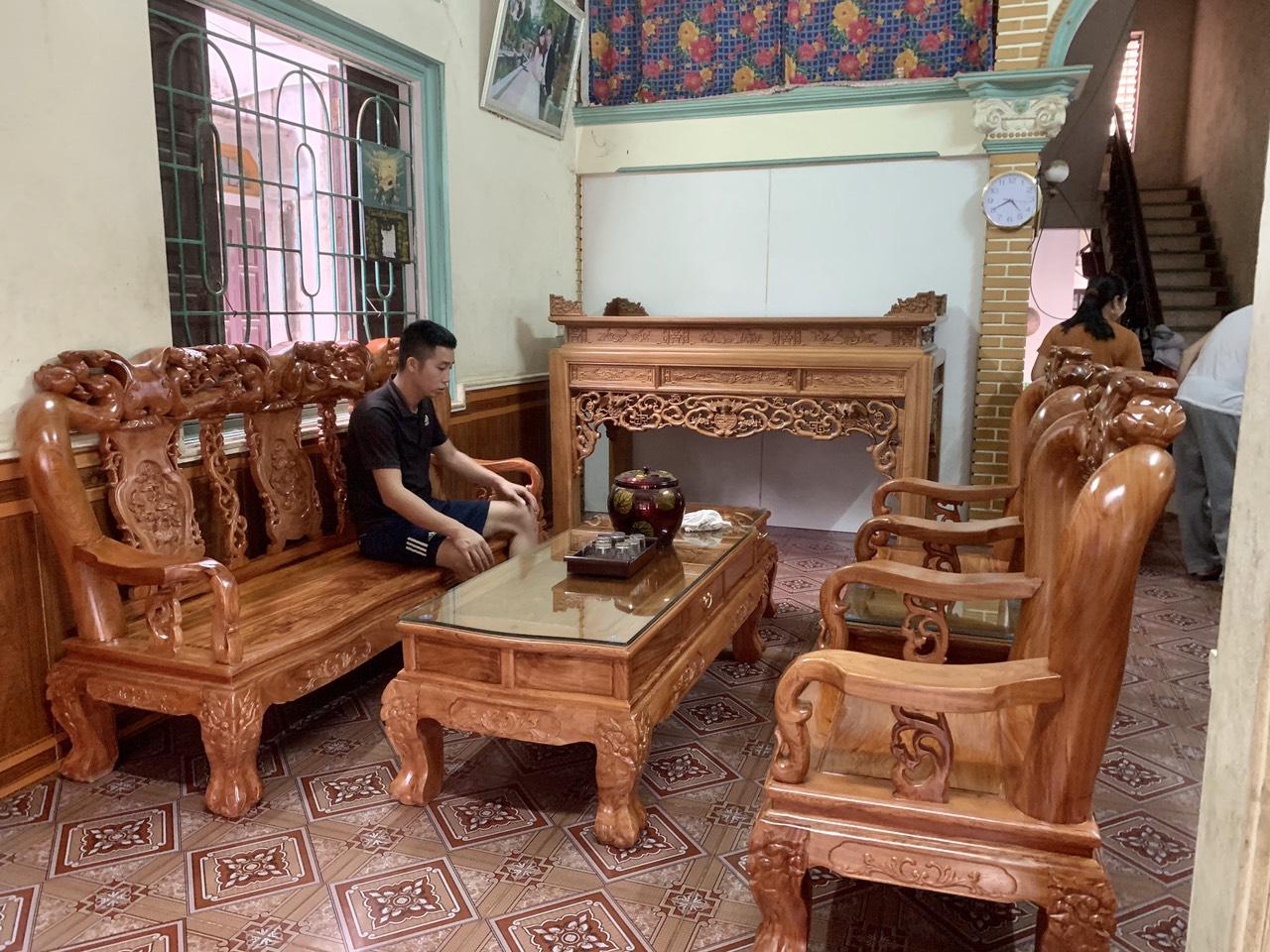 an gian go gu ngu phuc - Án gian thờ ngũ phúc gỗ gụ lào chân 12 (dạ đục tay)