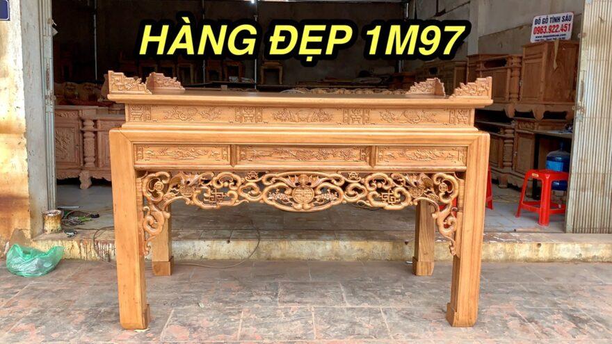 an gian ngu phuc 880x495 - Án gian thờ ngũ phúc gỗ gụ lào chân 12 (dạ đục tay)