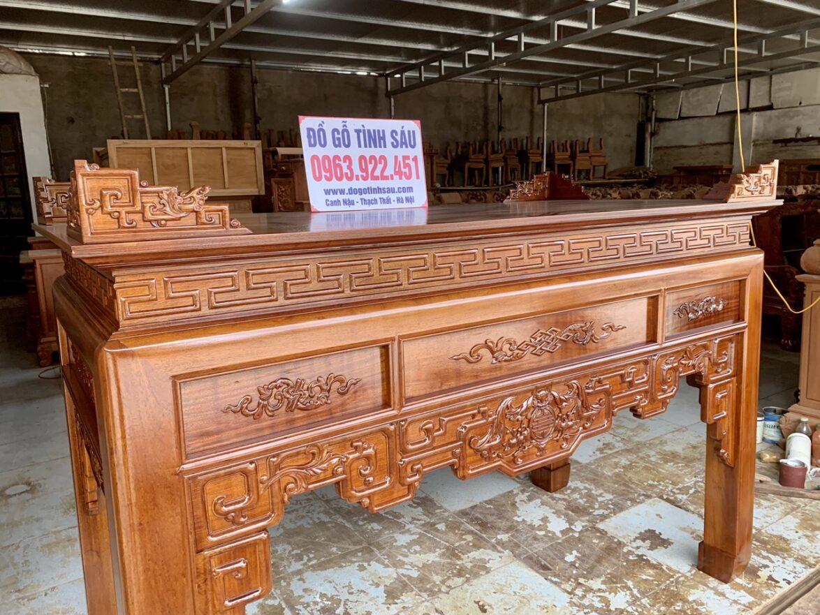 an gian go gu chan 12 3 1174x881 - Bàn thờ án gian gỗ gụ lào 1m97 chân 12 (Chú Dung - Đan Phượng)