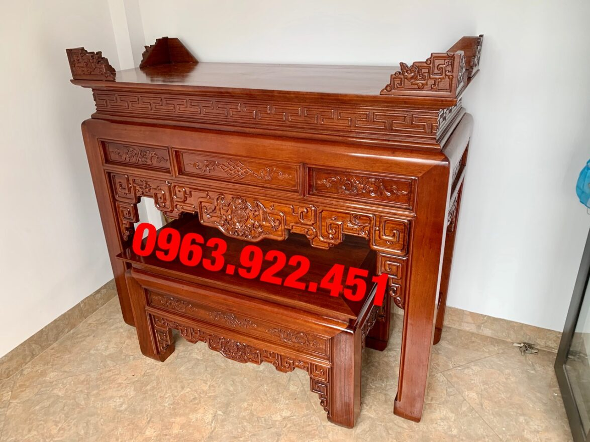 ban tho cap go gu lao 1m53 1174x881 - Bàn thờ cặp gỗ gụ lào 1m53