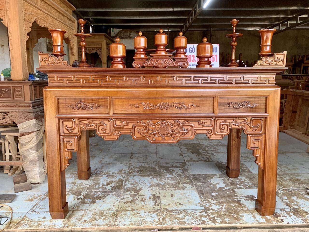 ban tho go gu dep - Bàn thờ gỗ gụ đẹp chuẩn giá tốt tại Hà Nội