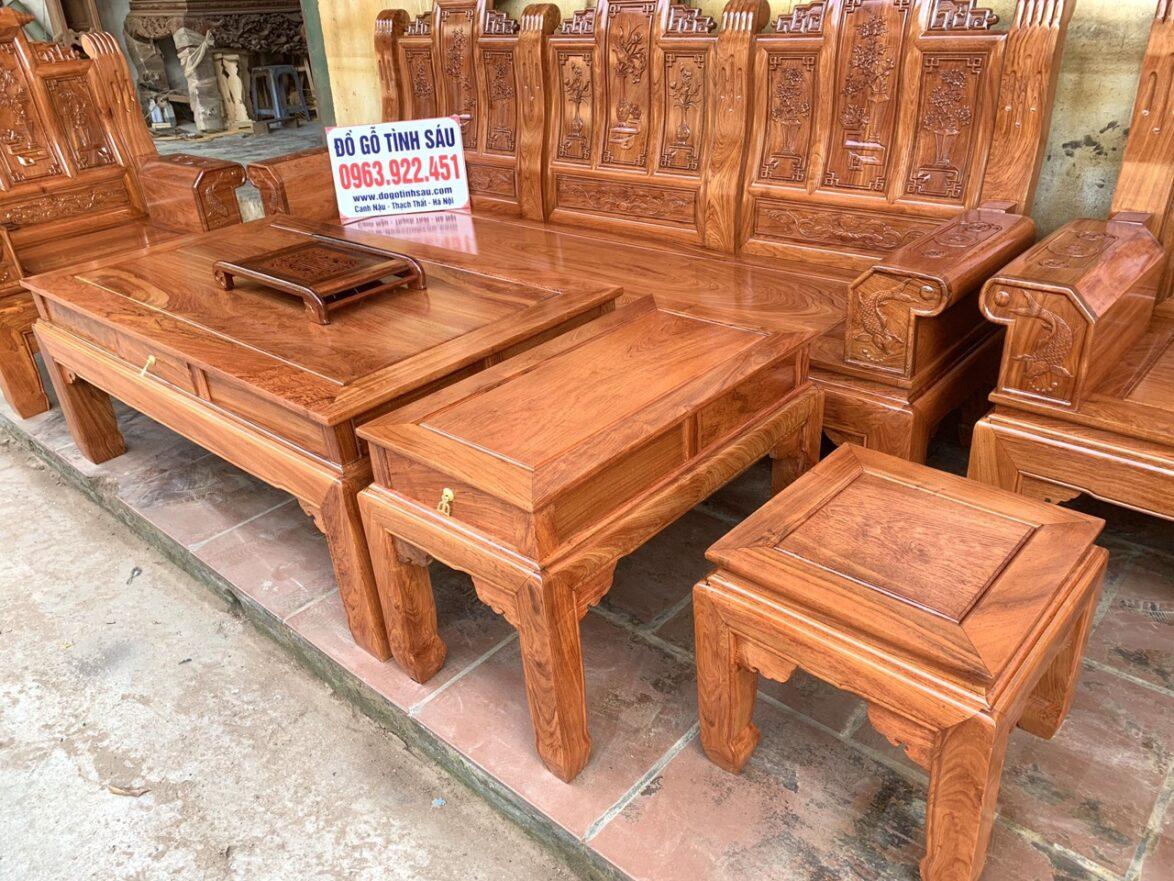 bo ban ghe au a hop go huong da 1174x881 - Bộ bàn ghế âu á hộp gỗ hương đá chương cuốn thư vân VIP