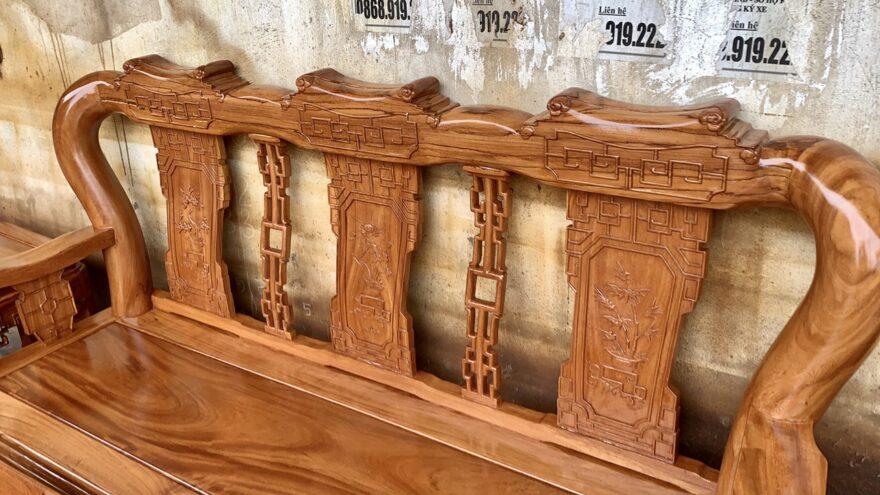 bo ban ghe minh quoc trien cot 12 go go do 2 880x495 - Bộ bàn ghế Minh Quốc triện cột 12 gỗ gõ đỏ
