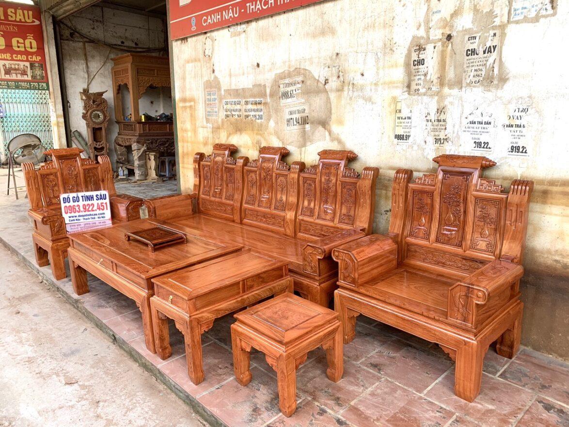 bo ghe au a hop chuong cuon thu go huong da 1174x881 - Bộ bàn ghế âu á hộp gỗ hương đá chương cuốn thư vân VIP