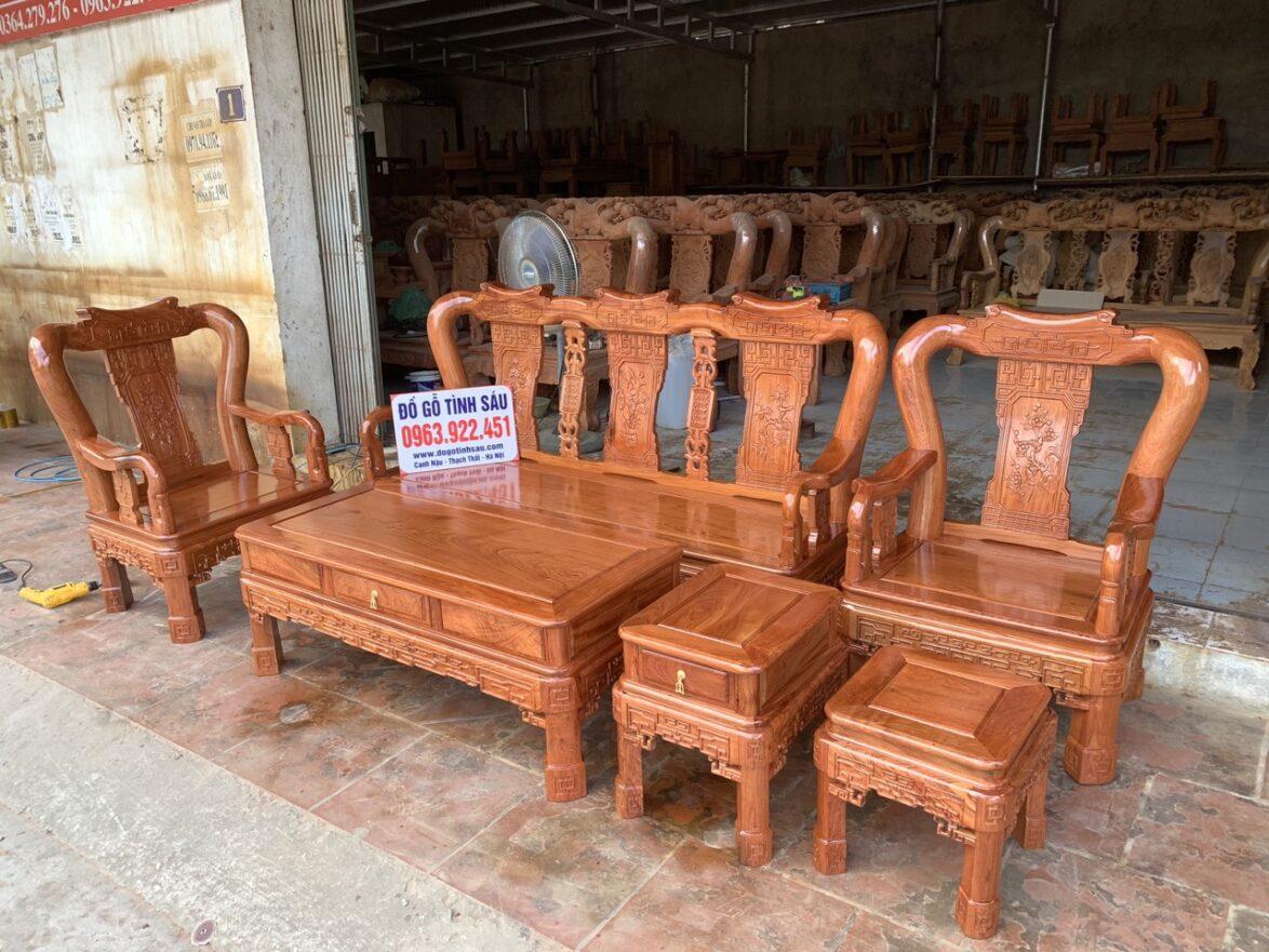 bo ghe minh quoc trien cot 10 go huong da 6 mon 1174x881 - Bộ ghế Minh Quốc triện cột 10 gỗ hương đá 6 món