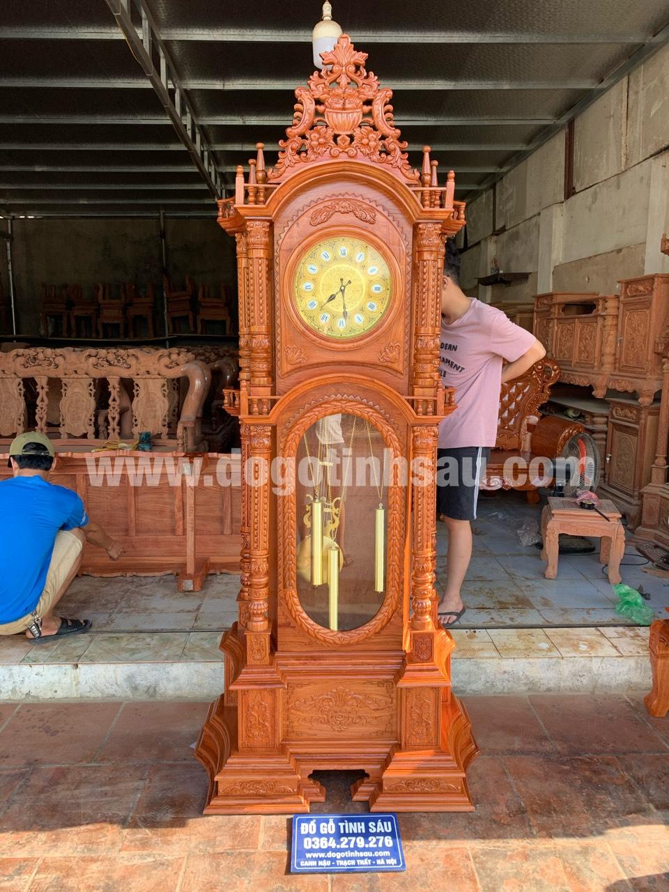 dong ho cay go huong da 7 - Đồng hồ cây gỗ hương đá mang lại sự thịnh vượng cho ngôi nhà của bạn