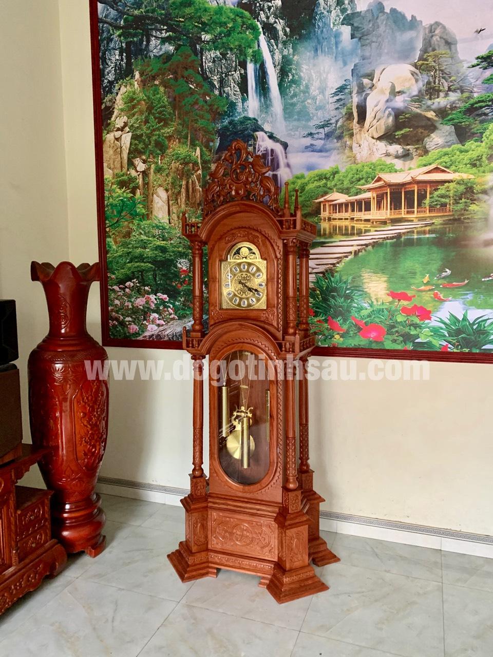 dong ho cay go huong da mau thap tu tru 3 - Đồng hồ cây gỗ hương đá mang lại sự thịnh vượng cho ngôi nhà của bạn