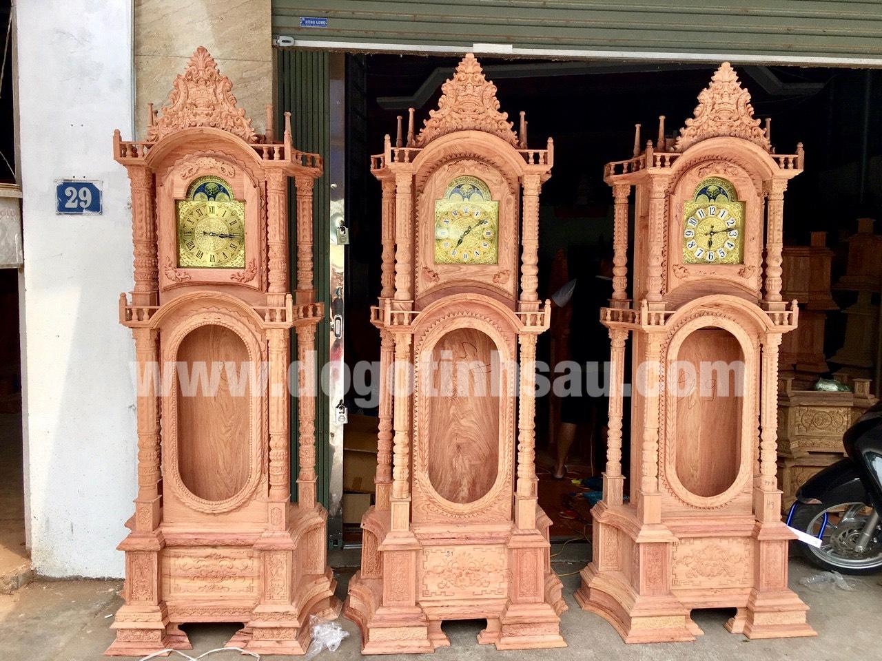 dong ho cay go huong da mau thap tu tru 4 - Đồng hồ cây gỗ hương đá mang lại sự thịnh vượng cho ngôi nhà của bạn