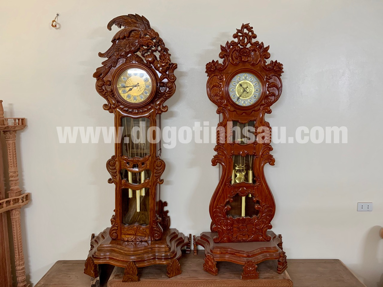 dong ho cay go huong van 6 - Đồng hồ cây gỗ hương đá mang lại sự thịnh vượng cho ngôi nhà của bạn