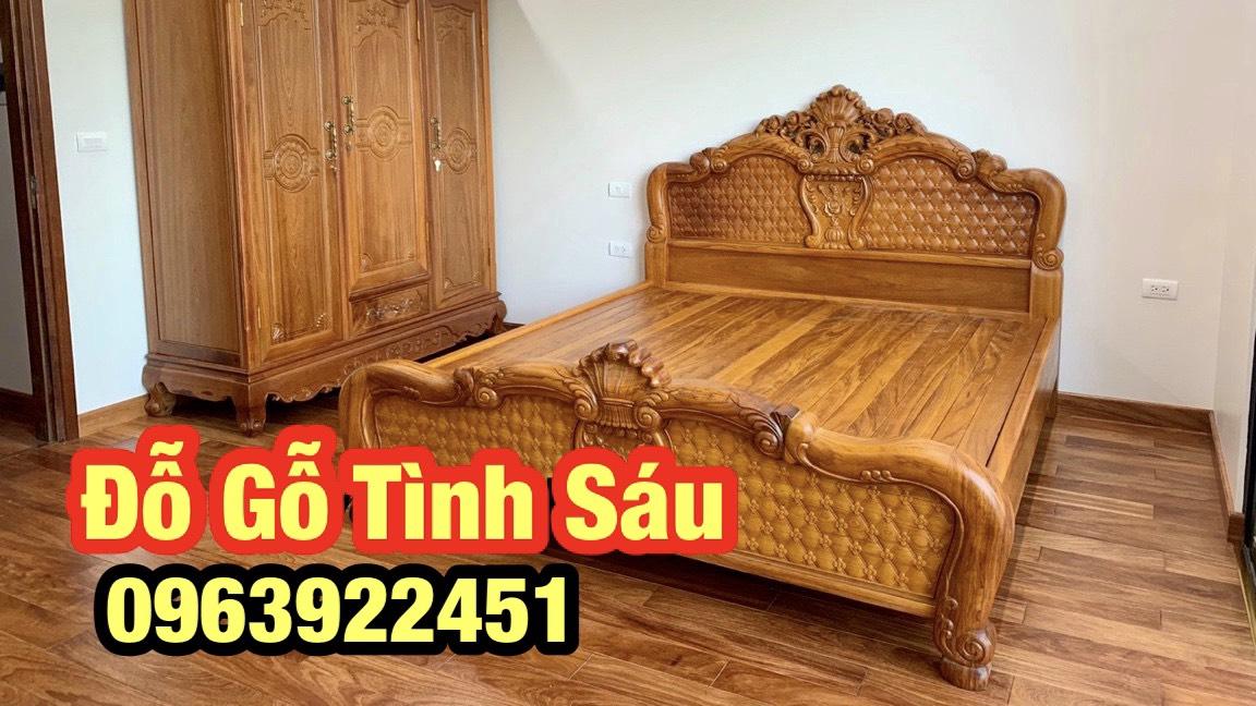 giuong go 5 - Giường gỗ gõ đỏ đẹp thể hiện đẳng cấp cho phòng ngủ của bạn