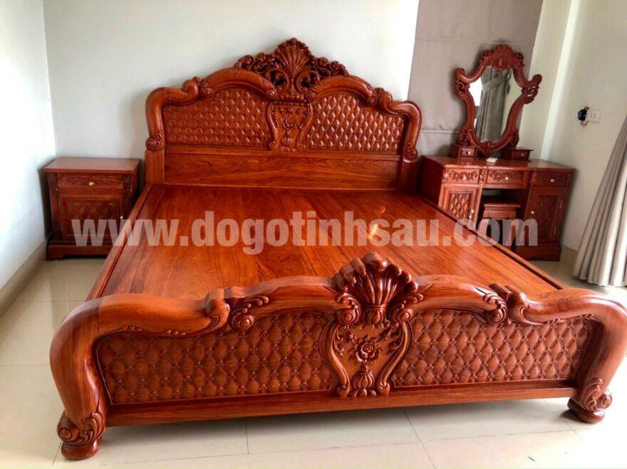 giuong go huong da hong tri 1m8x2m 880x659 - Giường ngủ gỗ hương đá mẫu Hồng Trĩ (1m8x2m)