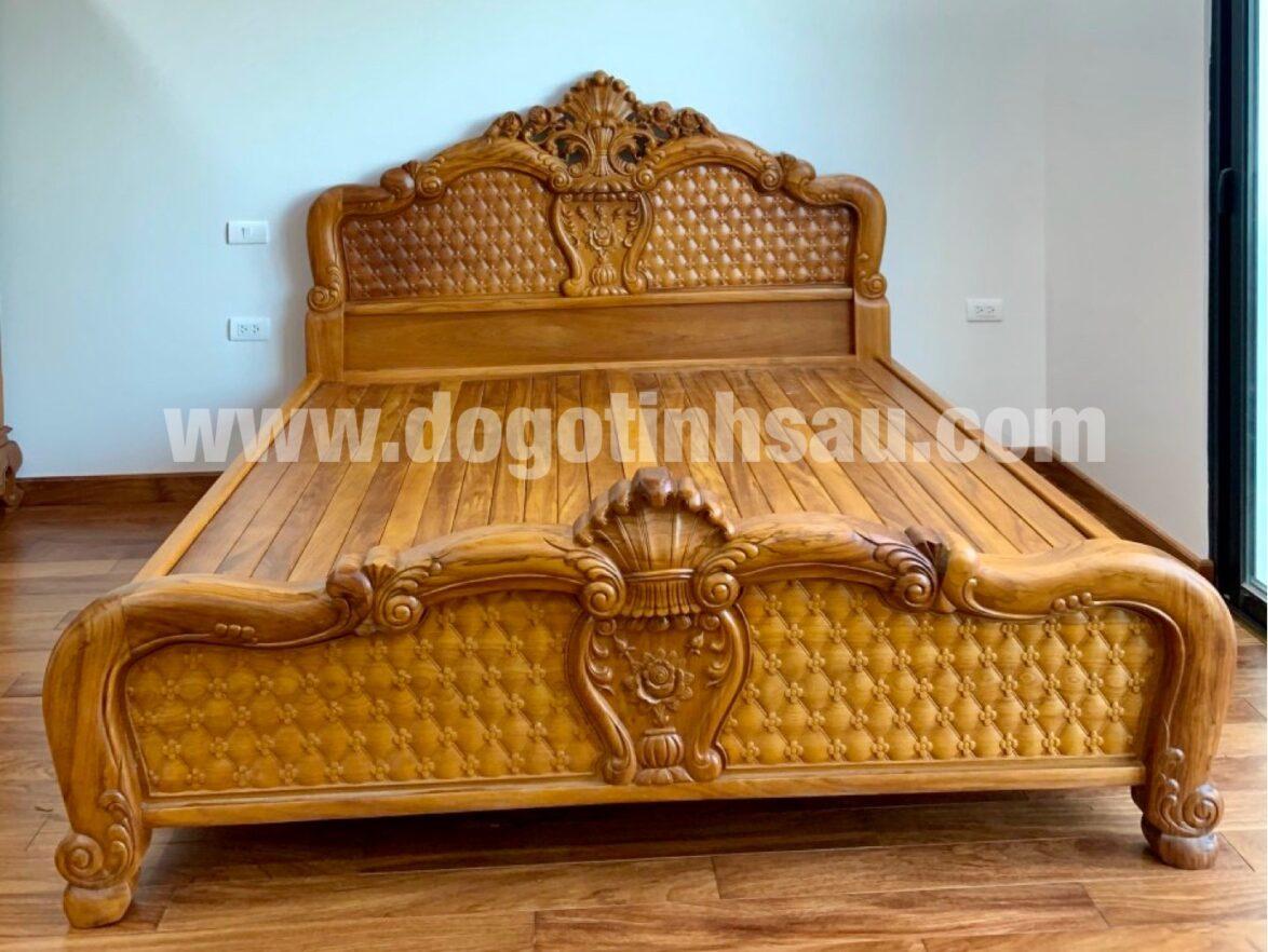 giuong ngu go go do dep 1174x882 - Giường ngủ gỗ gõ đỏ mẫu Hồng Trĩ (1m8 x 2m)