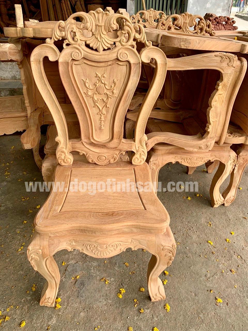 mau ghe an go go do 15 - 5 Lý do để mẫu bàn ghế ăn gỗ gõ đỏ ngày càng được ưa chuộng trên thị trường