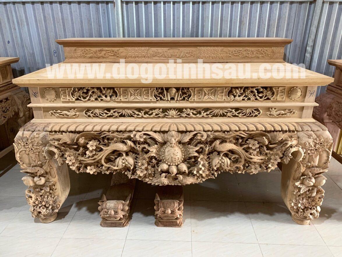 sap tho mai dieu chan 26 go gu duc cham tinh xao da lien 10cm 1174x881 - Siêu sập thờ Mai Điểu chân 26 gỗ gụ đục chạm tinh xảo (dạ liền 10cm)