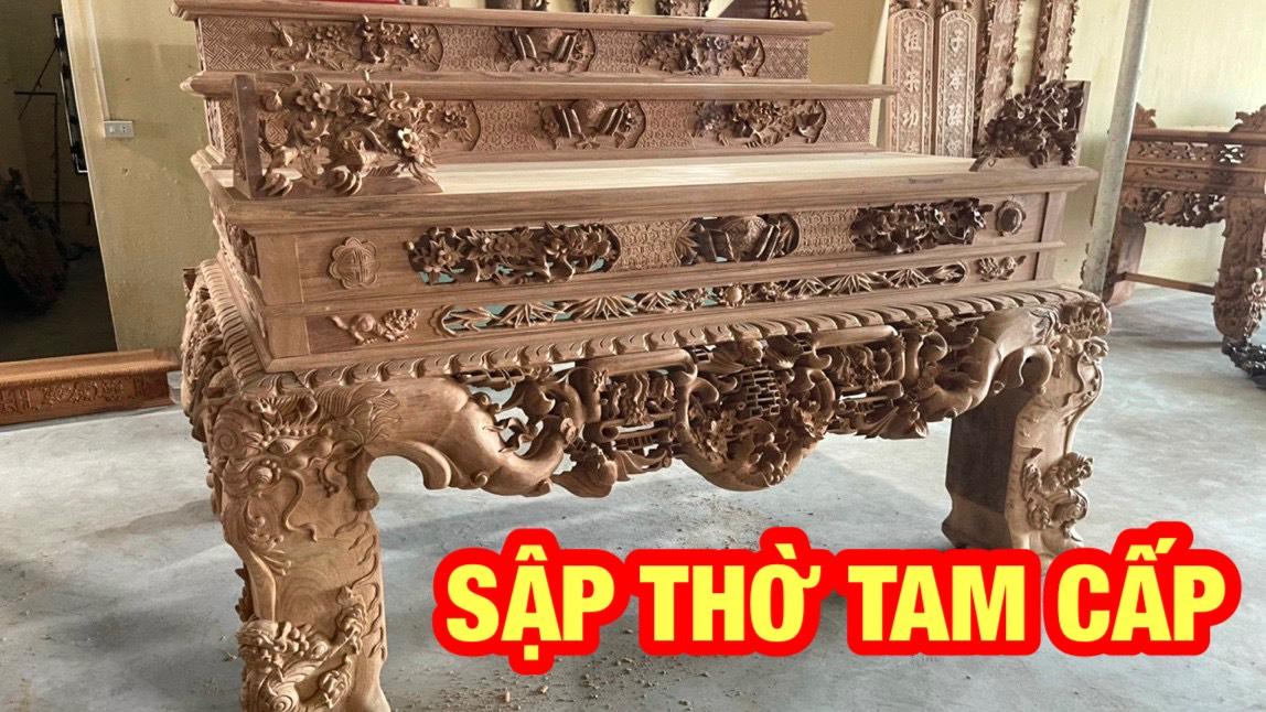 sap tho tam cap ngu phuc - Bí quyết chọn sập thờ tam cấp đẹp hợp phong thủy