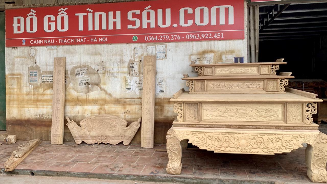 xuong do go tinh sau - Bàn thờ gỗ gụ đẹp chuẩn giá tốt tại Hà Nội