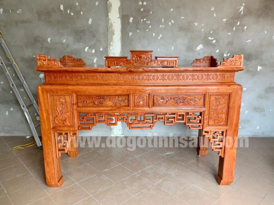 an gian go huong da 1m97 880x659 - Án gian thờ gỗ hương đá 1m97 (mẫu ô sa)