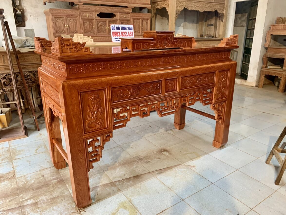 an gian go huong da 1m97x97 1174x881 - Án gian thờ gỗ hương đá 1m97 (mẫu ô sa)