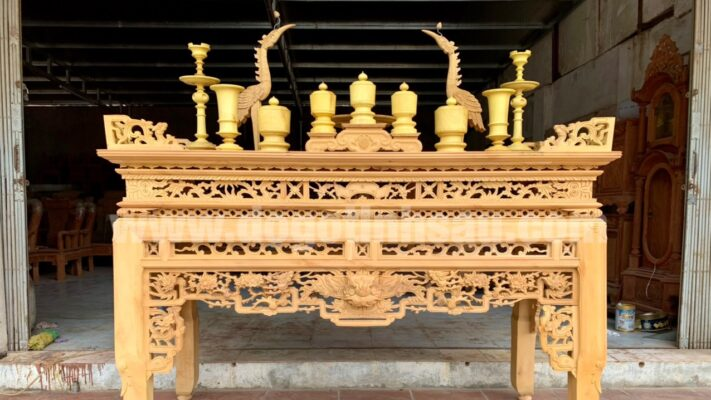 an gian go mit dogotinhsau 711x400 - Gợi ý cách chọn án gian thờ gỗ mít phù hợp với phòng thờ của gia đình