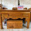 an gian gu 1m97 mat lien 100x100 - Cặp bàn thờ chung cư gỗ gụ án gian + bàn cơm 1m07