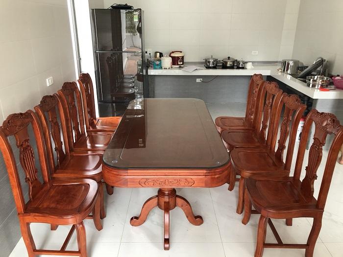 ban ghe phong an go huong - Kinh nghiệm chọn mua bàn ghế ăn gỗ hương chất lượng