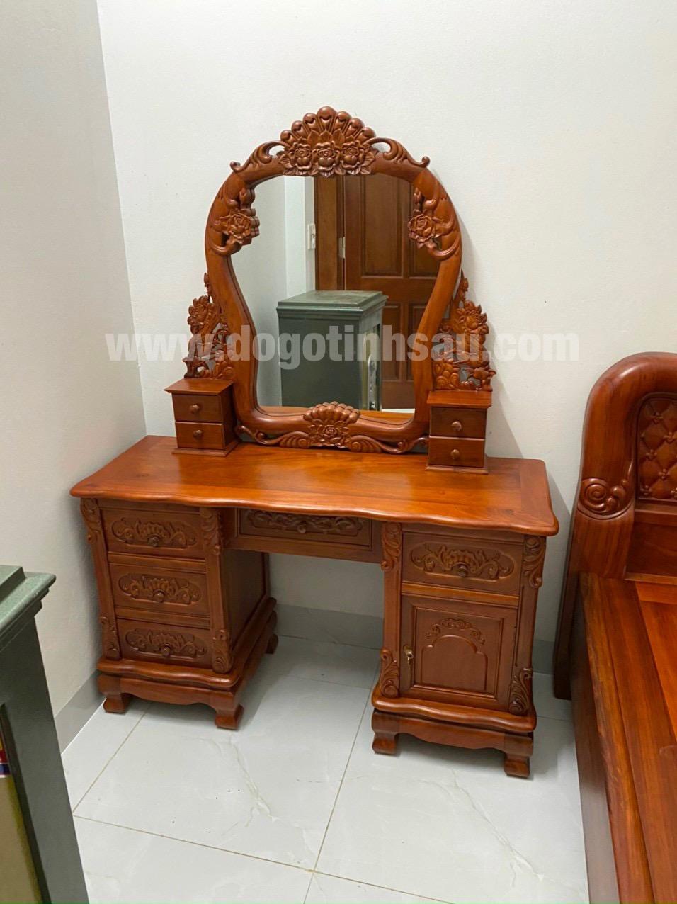 ban trang diem go huong da - Bàn phấn gỗ hương đẹp giá rẻ tại đồ gỗ Tình Sáu