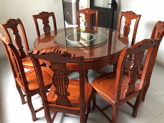 bo ban ghe an go huong - Kinh nghiệm chọn mua bàn ghế ăn gỗ hương chất lượng