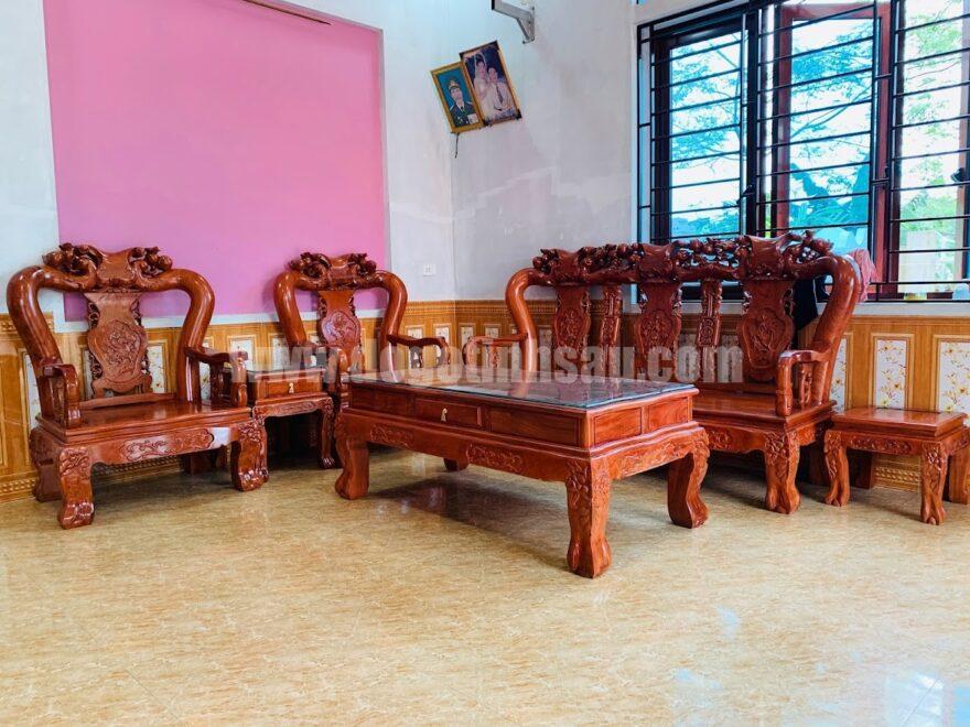 bo ban ghe cot 12 go huong da nam phi 880x660 - Bộ ghế tay 12 gỗ hương đá Minh Quốc đào