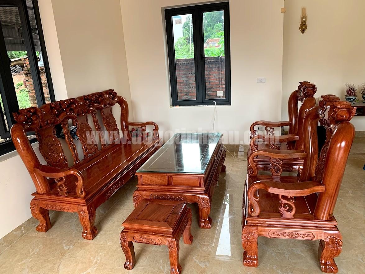 bo ban ghe go huong da tay 10 - Bộ bàn ghế tay 12 gỗ hương đá mẫu Minh Quốc đào