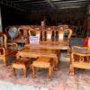 bo ban ghe gu ta quang binh tay 12 100x100 - Bộ bàn ghế hoàng gia Luis 6 món gỗ hương đá