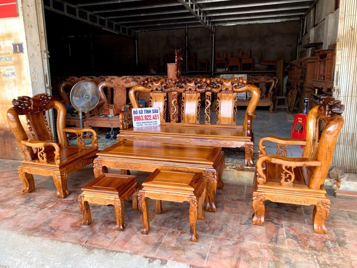 bo ban ghe gu ta quang binh tay 12 1174x881 - Bộ bàn ghế tay 12 gỗ gụ ta Quảng Bình (vách trơn chọn vân)