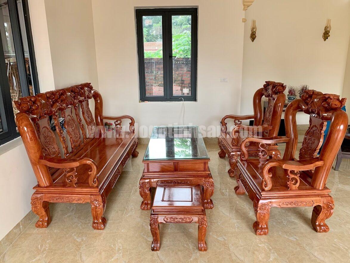bo ban ghe huong da tay 10 1174x881 - Bộ bàn ghế tay 12 gỗ hương đá mẫu Minh Quốc đào