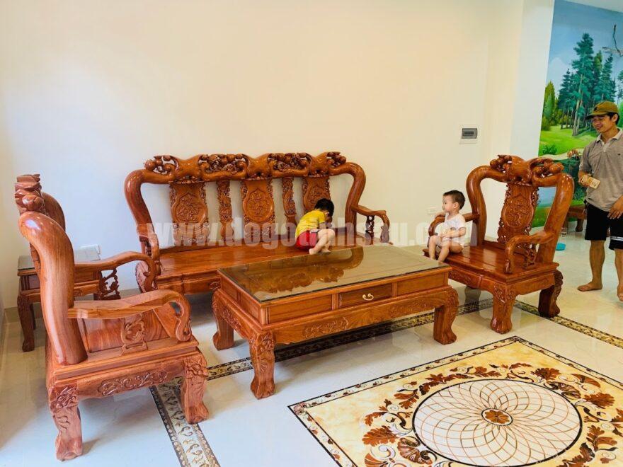 bo ban ghe tay 12 go huong da tay 880x660 - Bộ bàn ghế Minh Quốc đào gỗ hương đá tay 12 (hàng đặt)